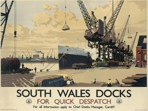 Poster Advertising South Wales Docks, 1947 by Joseph Werner