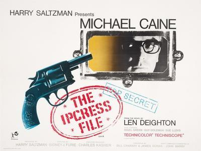 Poster for the Film 'The Ipcress File' (1964) Starring Michael Caine, 1964