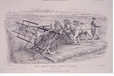 Bell's Improved Reaping Machine by Crosskill, C1840S