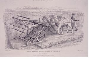 Bell's Improved Reaping Machine by Crosskill, C1840S by Joseph Wilson Lowry