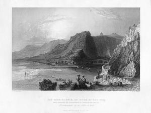 The Nahr-El-Kelb (Dog Rive), Lebanon, 1841 by Joseph Wilson Lowry