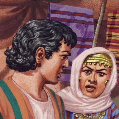 Joseph with the Wife of Potiphar-Pat Nicolle-Giclee Print