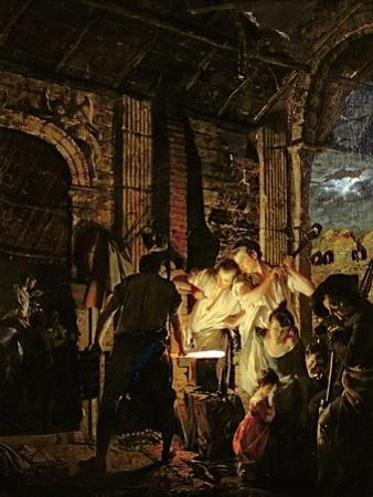A Blacksmith's Shop, 1771 by Joseph Wright of Derby