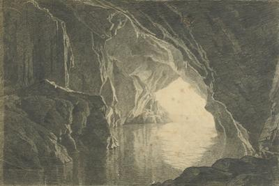 A Grotto in the Gulf of Salerno, Evening, C.1800 by Joseph Wright of Derby