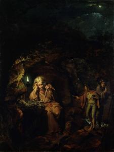 A Philosopher by Lamp Light, exh. 1769 by Joseph Wright of Derby