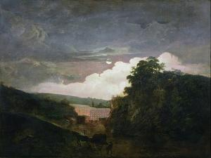 Arkwright's Cotton Mills by Night, C.1782-3 by Joseph Wright of Derby