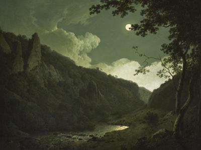 Dovedale by Moonlight, C.1784-85 by Joseph Wright of Derby