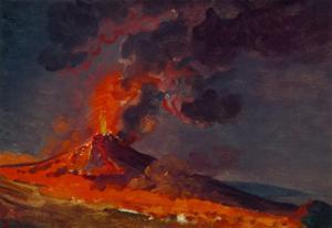 Eruption of Vesuvius. by JOSEPH WRIGHT OF DERBY