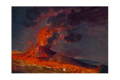 Eruption of Vesuvius. by Joseph Wright of Derby