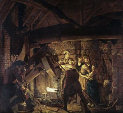 Iron Forge by Joseph Wright of Derby