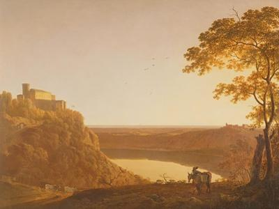Lake Nemi at Sunset, C.1790 by Joseph Wright of Derby
