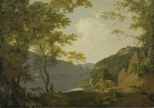 Lake Scene, 1790 by Joseph Wright of Derby
