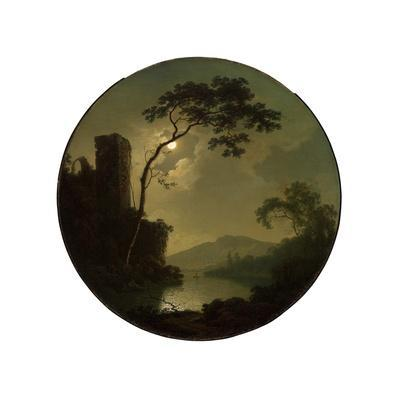 Lake with Castle on a Hill, 1787