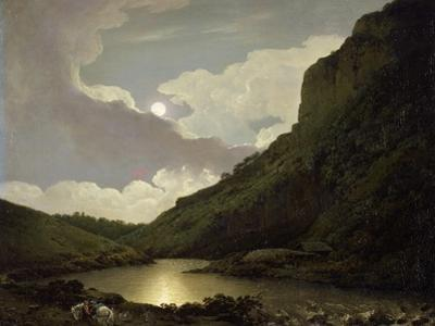 Matlock Tor by Moonlight, C.1777-80 by Joseph Wright of Derby