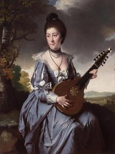 Mrs Robert Gwillym, 1766 by Joseph Wright of Derby