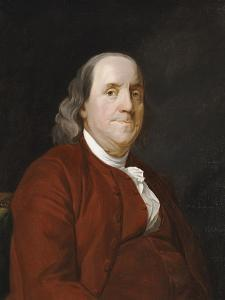 Portrait of Benjamin Franklin (1706-1790) by Joseph Wright of Derby