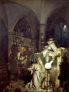 The Alchemist Discovering Phosphorus by Joseph Wright of Derby