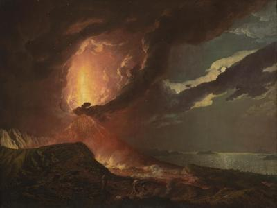 Vesuvius in Eruption, with a View over the Islands in the Bay of Naples by Joseph Wright of Derby