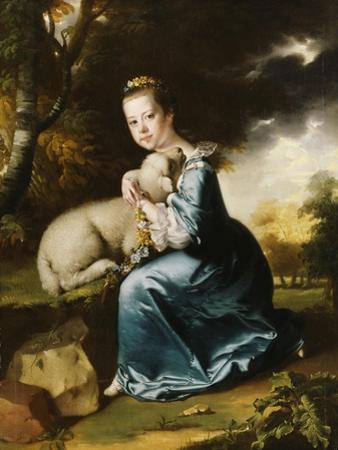 Portrait of Miss Frances Warren by Joseph Wright