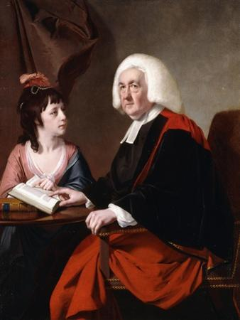 Portrait of the Rev.Thoms Wilson D.D. and His Adopted Daughter, Miss Catherine Macauley by Joseph Wright