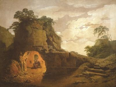 Virgil's Tomb, with the Figure of Silius Italicus, 1779 by Joseph Wright