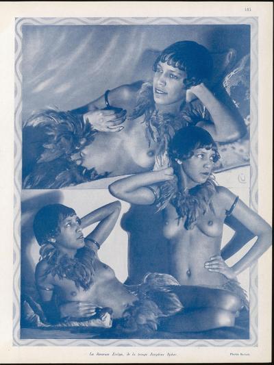 Josephine Baker Folies Bergere Dancer--Photographic Print
