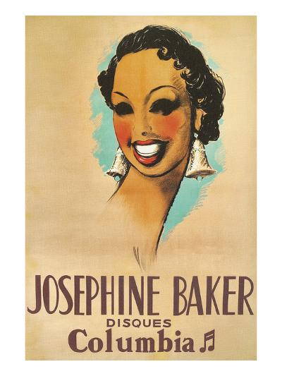 Josephine Baker Record Advertisement--Art Print