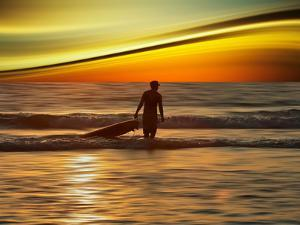 Sunset Surfer by Josh Adamski