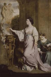 Lady Sarah Bunbury Sacrificing to the Graces, 1763-65 by Joshua Reynolds
