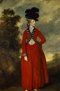 Portrait of Lady Worsley by Joshua Reynolds
