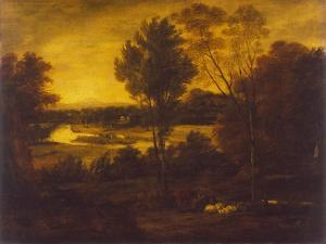 The Thames from Richmond Hill by Joshua Reynolds