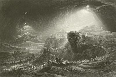 Joshua Summoning the Sun to Stand Still-John Martin-Giclee Print