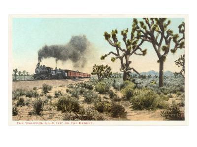 Joshua Trees, Train, California--Art Print
