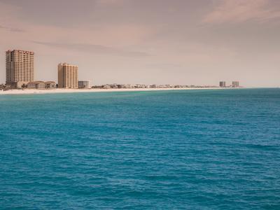 Pensacola White Beach Blue Water Clear