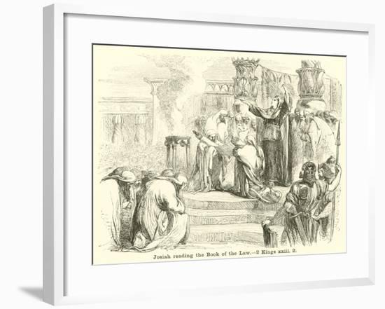 Josiah Reading the Book of the Law, 2 Kings, XXIII, 2--Framed Giclee Print