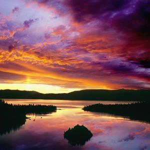 USA, California, Lake Tahoe at dawn by JoSon
