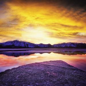 USA, California, Lake Tahoe at sunset by JoSon