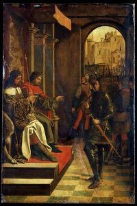 Saint Sebastien before the Emperors Diokletian and Maximian, Late 15th Century by Josse Lieferinxe