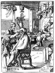 Barber, 16th Century by Jost Amman