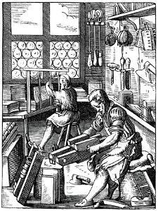 Bookbinders, 16th Century by Jost Amman