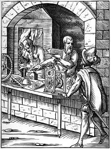 Clockmaker, 16th Century by Jost Amman