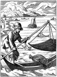 Fisherman, 16th Century by Jost Amman