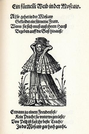 Noble Woman of Moscow. from the Frauentrachtenbuch (Frankfurt, 158), 1586