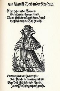 Noble Woman of Moscow. from the Frauentrachtenbuch (Frankfurt, 158), 1586 by Jost Amman