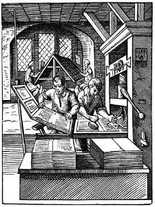 Printing Workshop, 16th Century by Jost Amman