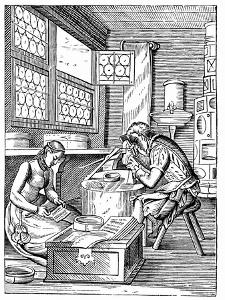 The Clasp Maker's Workshop, 16th Century by Jost Amman