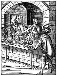 The Clockmaker, 16th Century by Jost Amman