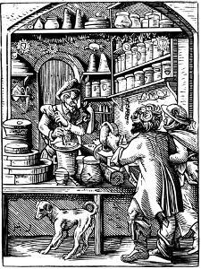 The Druggist's Shop, 1568 by Jost Amman