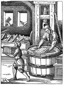 The Paper Maker, 16th Century by Jost Amman