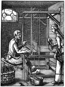 The Weaver, 16th Century by Jost Amman